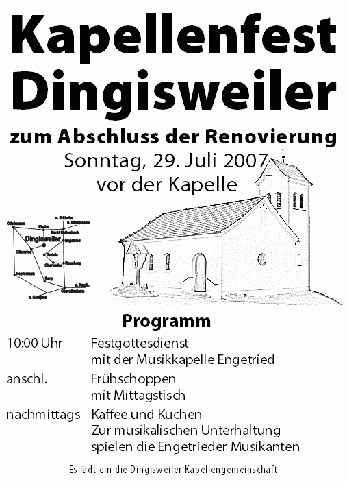 Flyer Kapellenfest